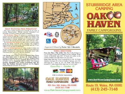 Oak Haven Family Campground Near Old Sturbridge Village